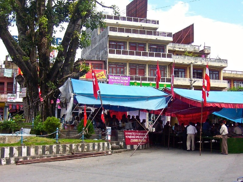 Maoist gathering in Pokhara, Nepal
