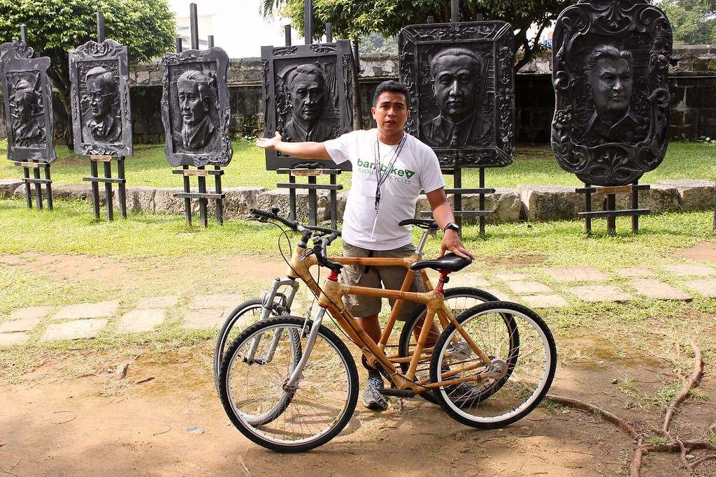 Rey Ballesca of Bambike at the Galeria de los Presedentes de la Republica Pilipinas in Manila, the Philippines