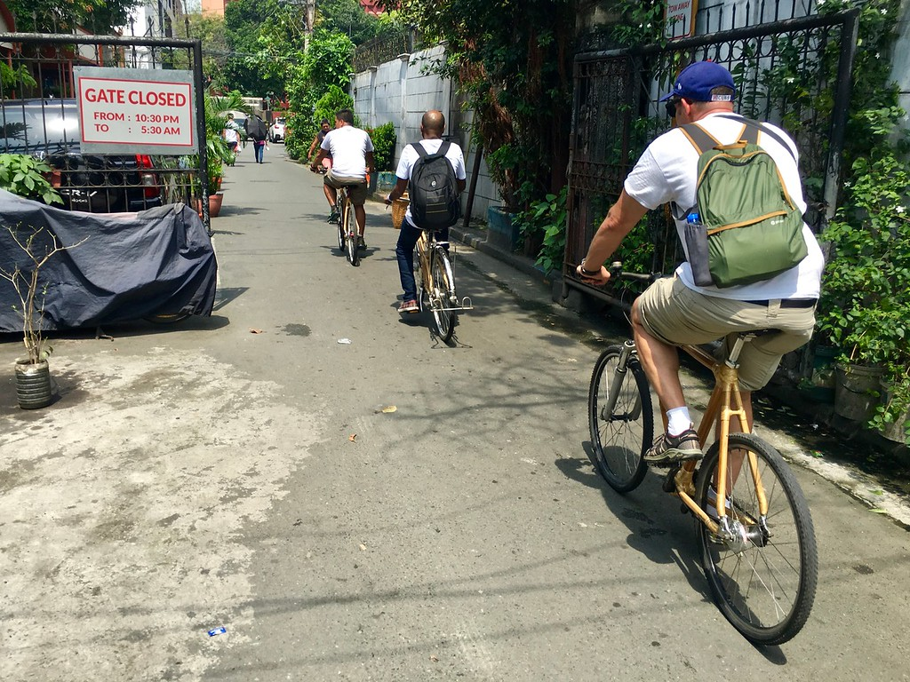 peddling through Intramuros in Manila, the Philippines, with Bambike Ectours