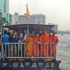 Monks on the tourist boat...they ride free!