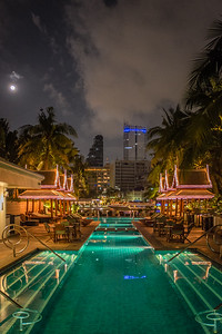 In Bangkok, along the Chao Phraya River, a glorious swimming pool
