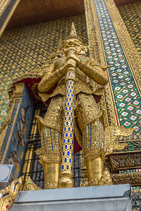 A guard in the Golden Pagoda in the Grand Palace, Bangkok
