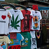 T-shirt stalls on Khaosan