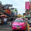 Bangkok's ubiquitous hot pink taxis