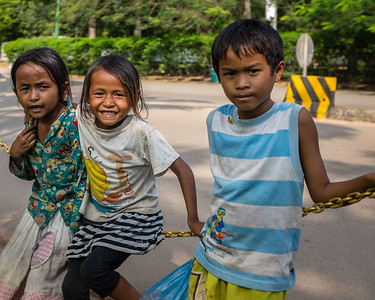 Beggar children in Siem Reap, Cambodia