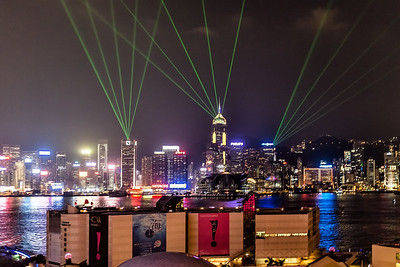 Laser Light Show in Hong Kong