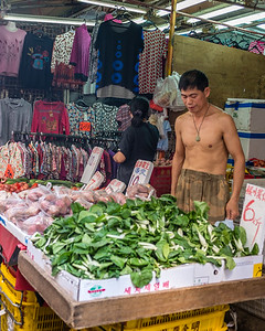 Veggies and more in a Hong Kong Day Market