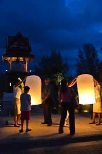 Getting ready to release the lanterns