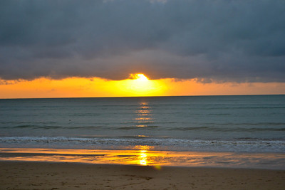 The only real sunset we saw in Khao Lak