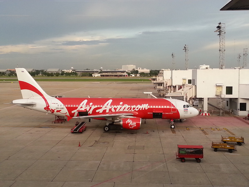 Our Air Asia flight to Phuket