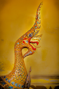 Dragons guarding the the Xieng Thong Temple  Vientiene, Laos