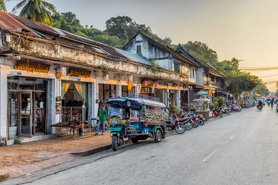 Downtown in Luang Prabang, Laos
