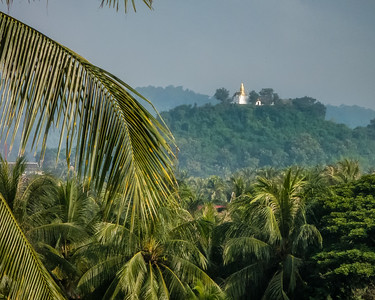 Phousi Hill and Wat Tham Phousi are the highest point in Luang Prabang, Laos