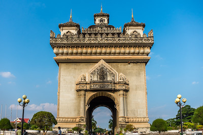 Victory Gate in Vientiene, celebrating independence from France.