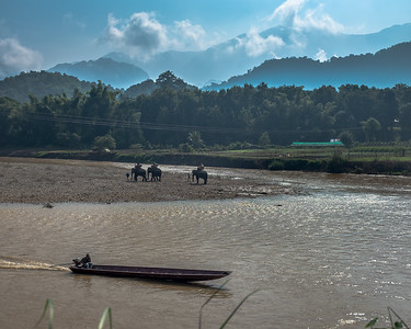 Along the Mekong River outside of Luang Prabang, Laos