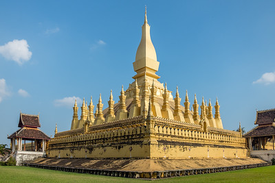 Phang That Luang temple in Vientiene, Laos