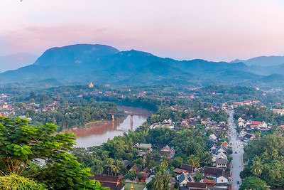 Sunset on the Mekong River in Luang Prabang, Laos