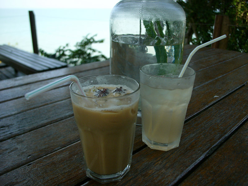 Spicy coffee + lemongrass spice drink, Tropical Spice Cafe