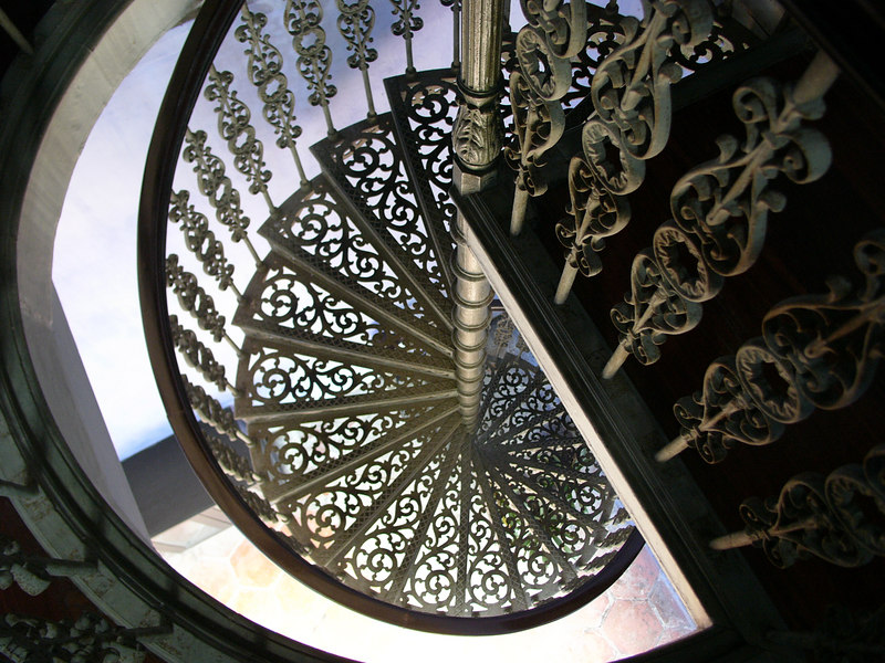 one of the seven staircases, Cheong Fatt Tze Mansion