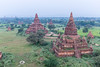 Photos taken from hot air balloons (Balloons over Bagan) of temples in Bagan, Myanmar.