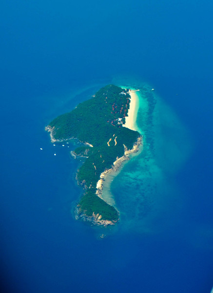 Flying over the outer islands of Phuket