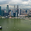 View over Singapore from the observation deck