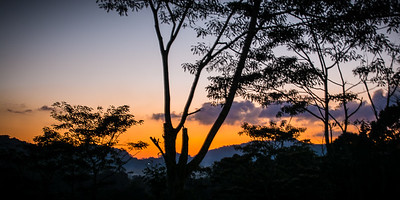 Sunset  Sinharaja rainforest