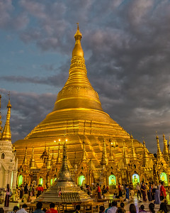 In Yangon, the Shwedagon Pagoda, 2600 years old