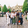 Bangkok buddies in Grand Palace attire