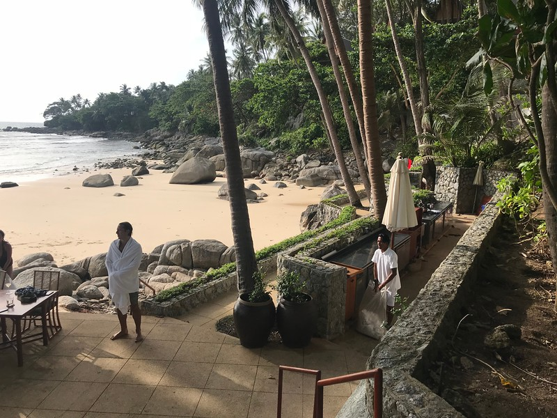 View of Amanpuri's second adults only beach