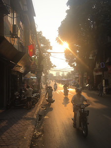 On the way to our friends parents place in Hanoi
