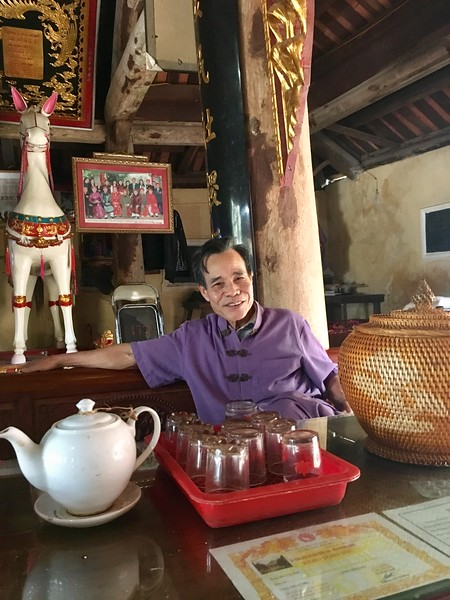 Uncle Tho, a former Viet Cong, now a caretaker at Phung Hung Temple