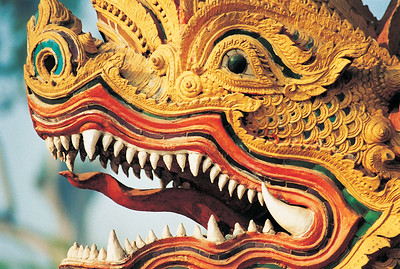 Dragon Deity Statue, Chiang Mai