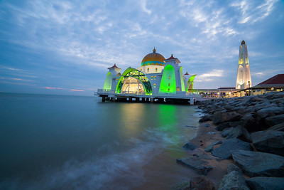 Floating Mosque During Sunset