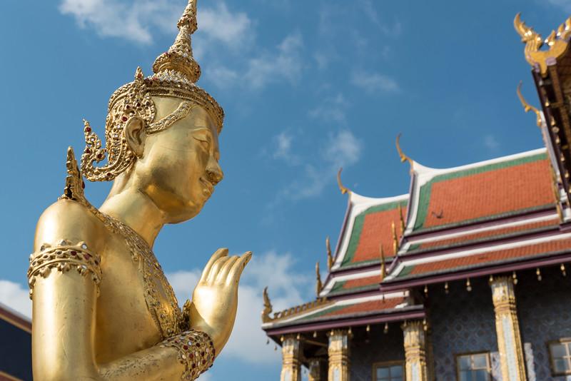 Statue in front of Royal Pantheon, Bangkok