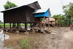 A recent flooded area in a village.