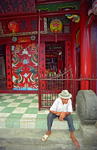 Man at Buddhist Temple, Hoi An