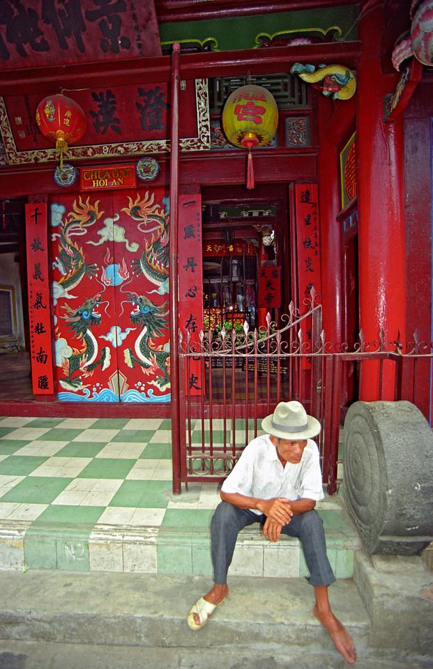 Man at Buddhist Temple, Hoi An