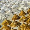 Yellow and White Thai Saa-Paper Umbrellas