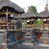 Personal worship temple in traditional Bali Highland village home. Bali, Indonesia