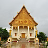 Another pretty building in the Pha That Luang Stupa and Temple complex in Vientiane, Laos