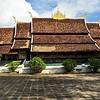 Vat Xieng Toung. The oldest monastery in Luang Prabang, and a particularly beautiful one. From the outside, it does not look that special. But take a look at the pictures that follow to see some of the skilled and detailed artwork which makes it special. Luang Prabang, Laos