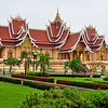 Beautiful building on the grounds of the Pha That Luang Stupa complex, in Vientiane. Laos
