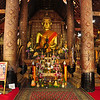 Inside the main temple at the Vat Xieng Toung Monastery complex in Luang Prabang. Laos