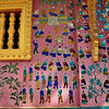 Here is a close-up of the same smaller temple shown in the previous picture. The artwork here is all done in pieces of colored glass. Vat Xieng Toung Monastery, Luang Prabang, Laos