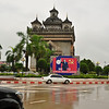 Arc de Triomphe, also called the Vientiane Patuxai, in the central government district of Vientiane. It is a war monument built between 1957 and 1968 dedicated to those who fought in the struggle for independence from France.