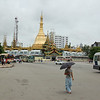 Sule Pagoda, in middle of downtown traffic circle. Yangon