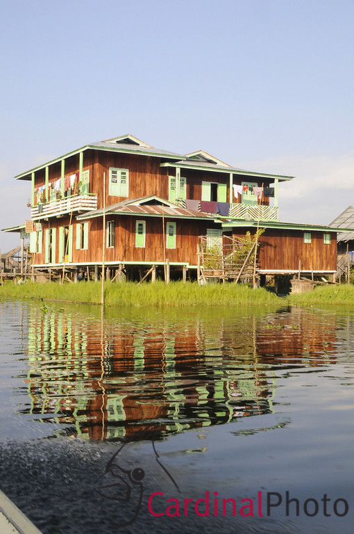 Wooden Home built on Stilts in In Paw Khon Village South of Inle Lake, Shan State, Myanmar (Burma), Southeast Asia
