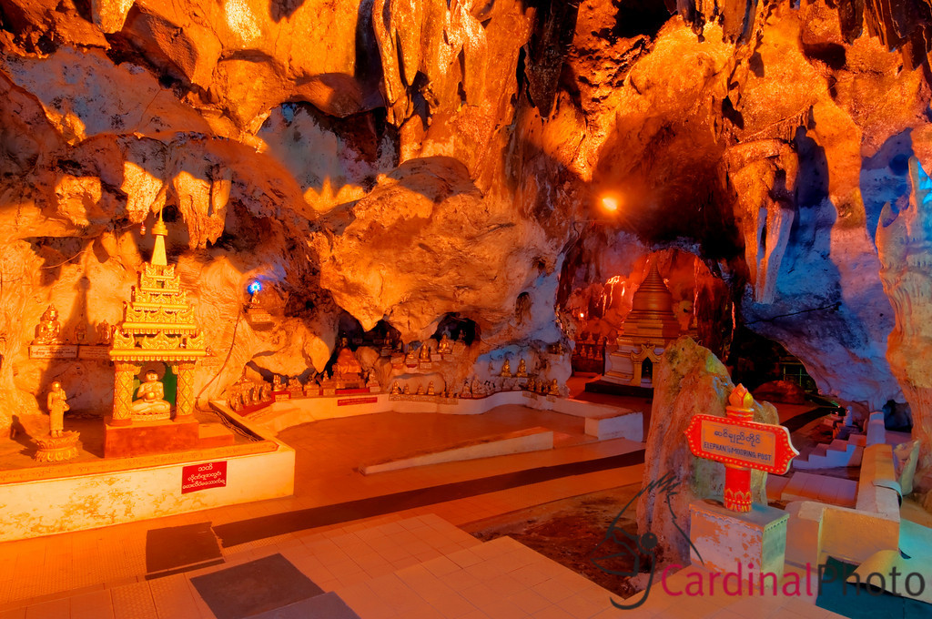 Buddha Shrines in Pindaya Cave, featuring amazing Caverns with over 8000 Buddha images, Inle Lake Area, Shan State, Myanmar (Burma), Southeast Asia
