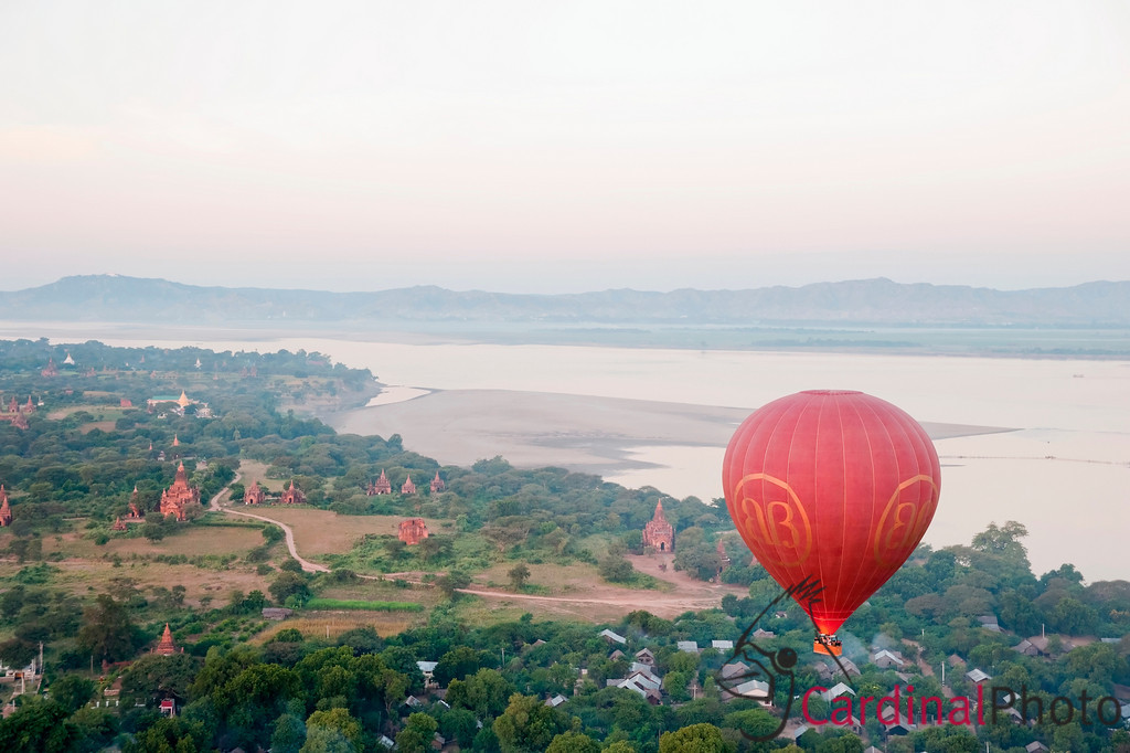 Balloon over Bagan at Sunrise, Bagan, Myanmar